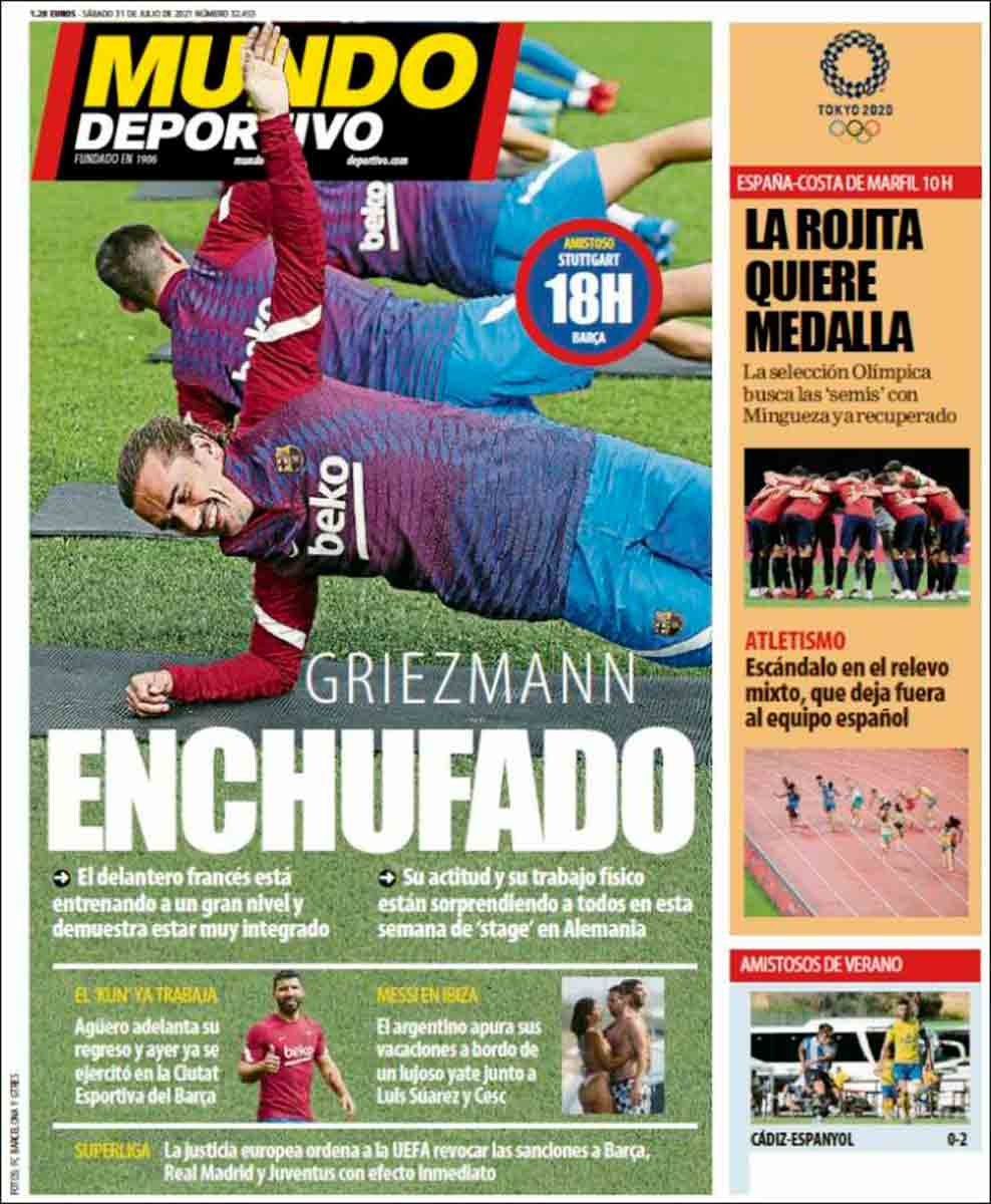 Portada Mundo Deportivo 31-07-21