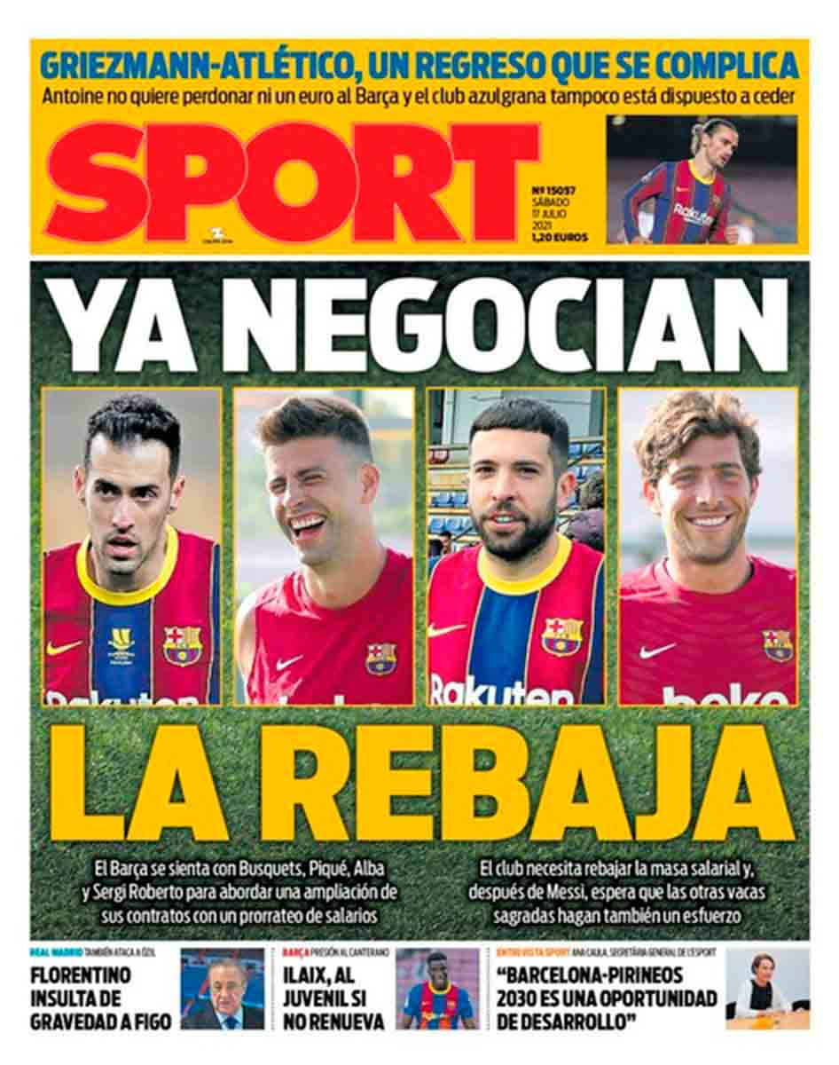Portada Sport 17-07-21