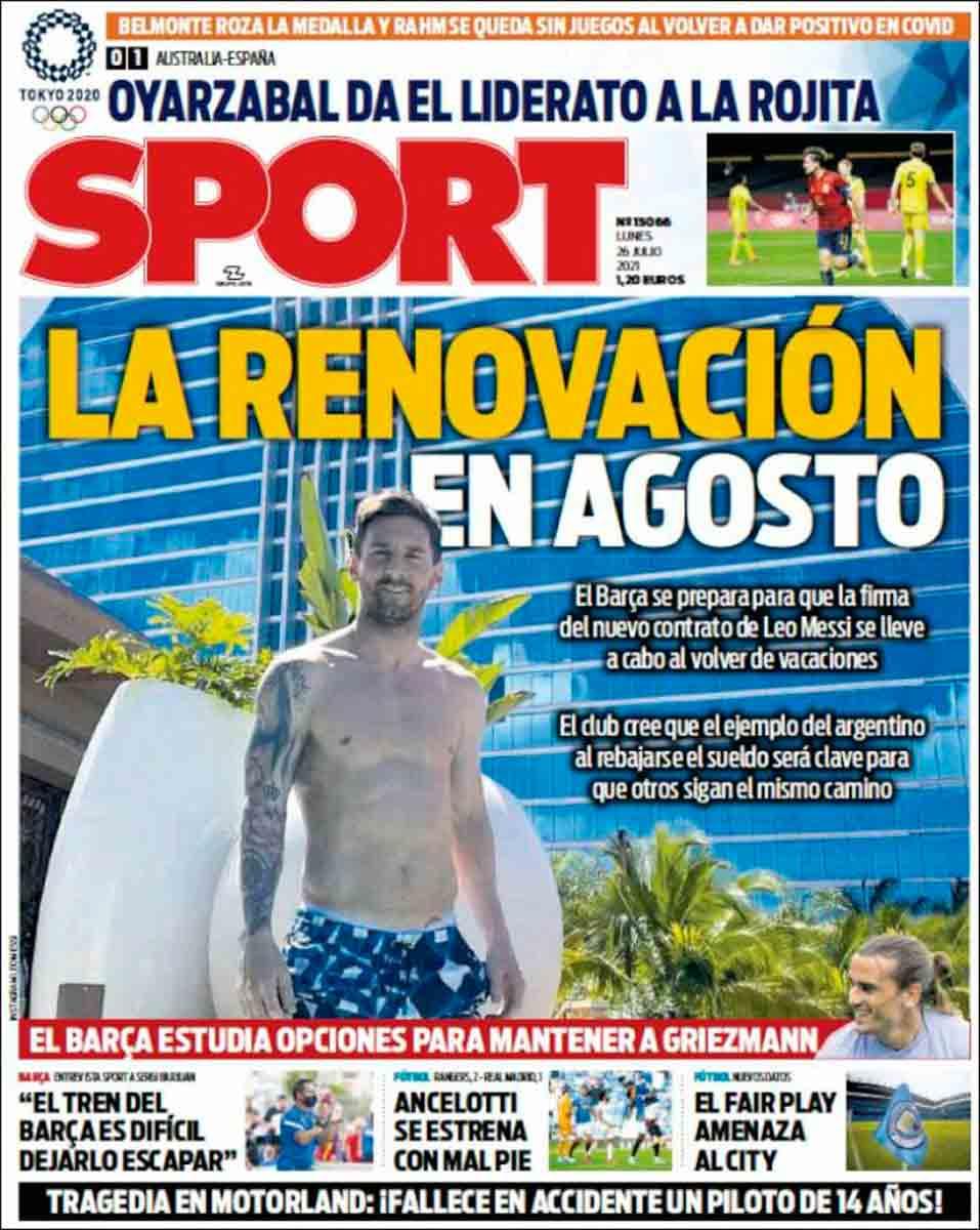 Portada Sport 26-07-21