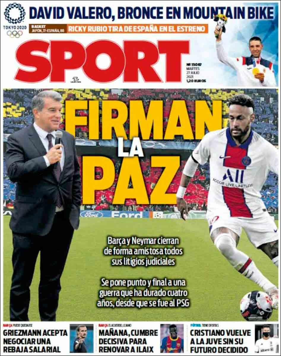 Portada Sport 27-07-21