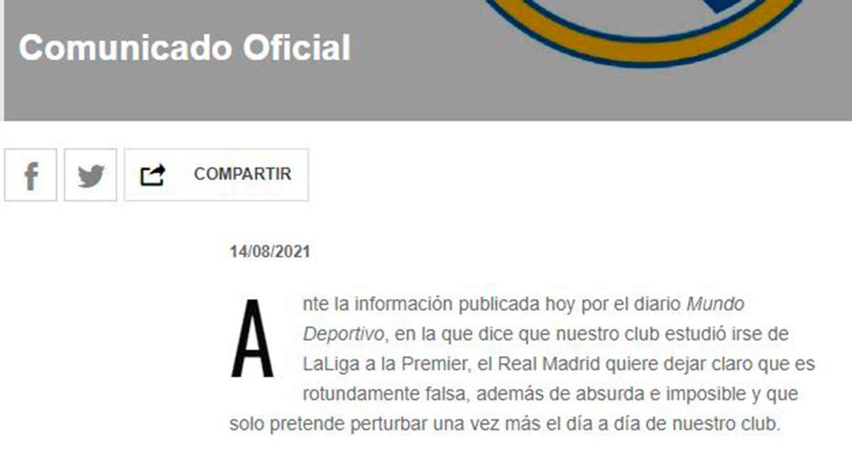 Comunicado Madrid Premier