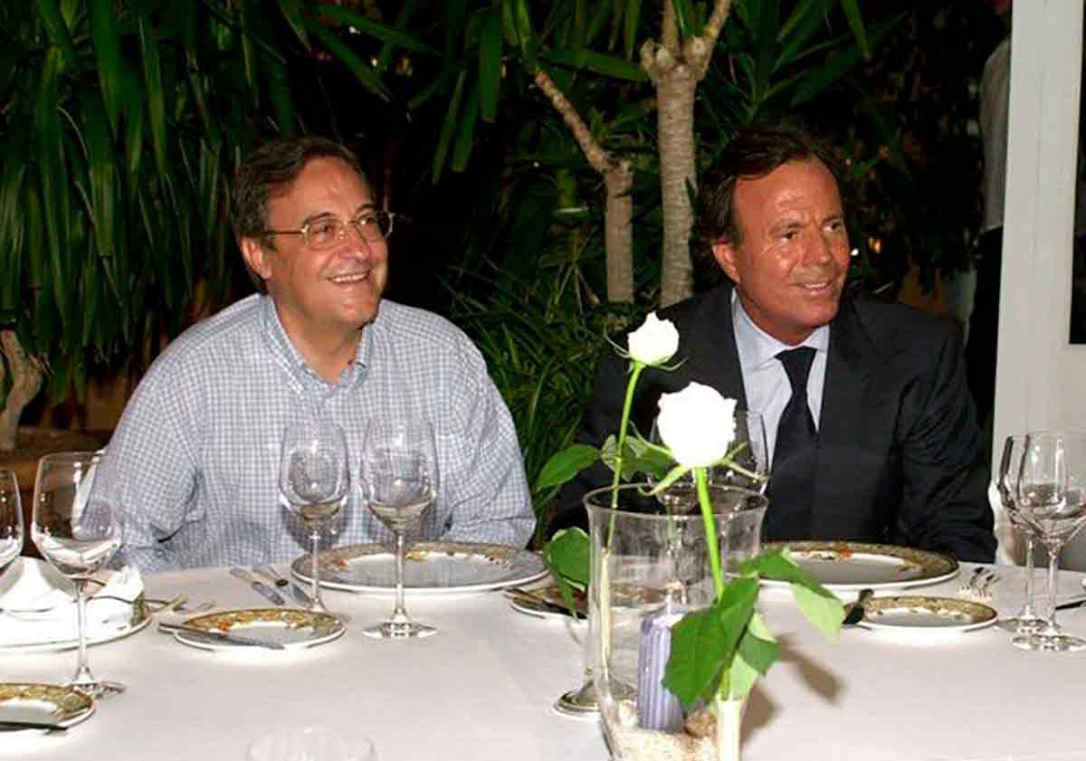 Florentino Pérez y Julio Iglesias