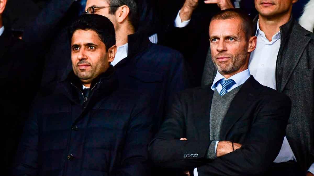 Nasser Al-Khelaifi y Ceferin