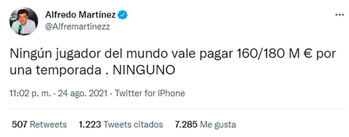 Tuit Alfredo Martínez