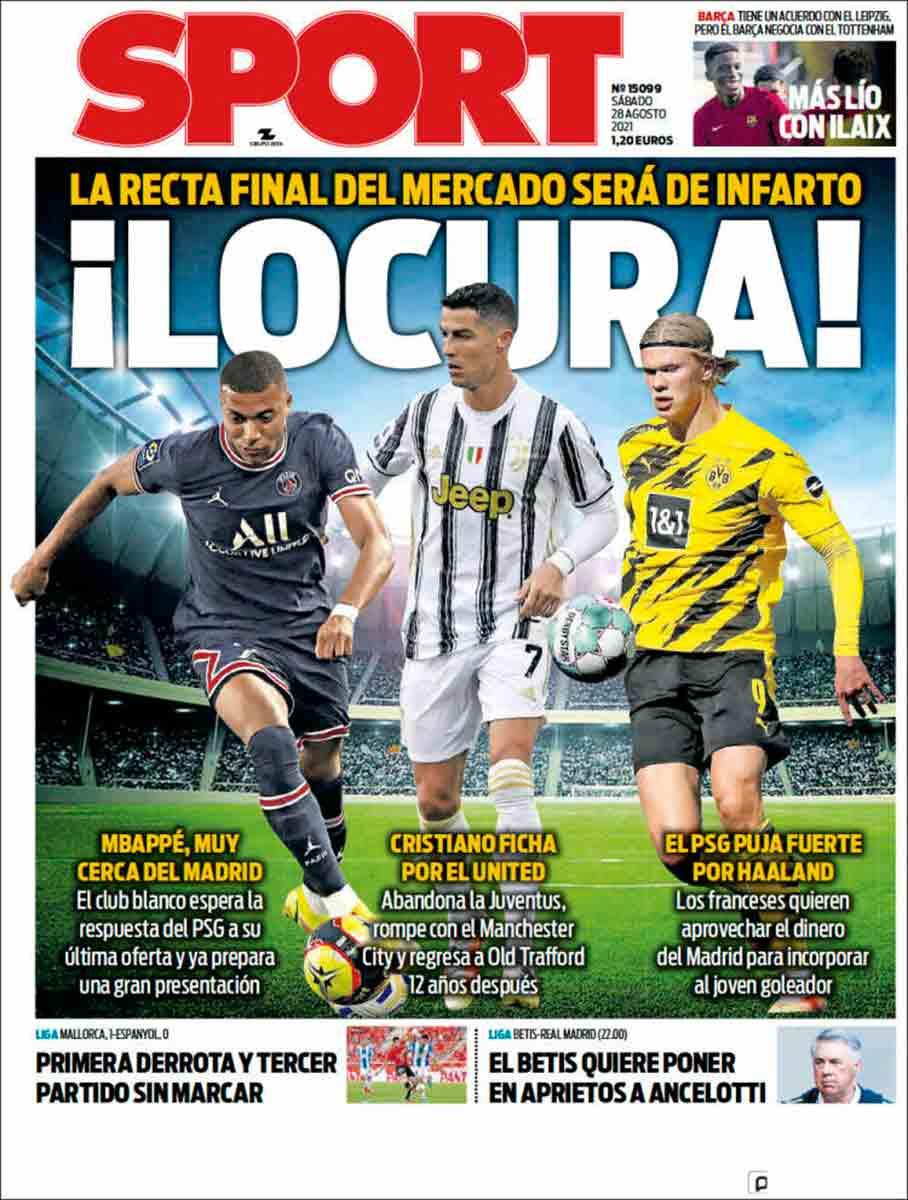 Portada Sport 28-08-21