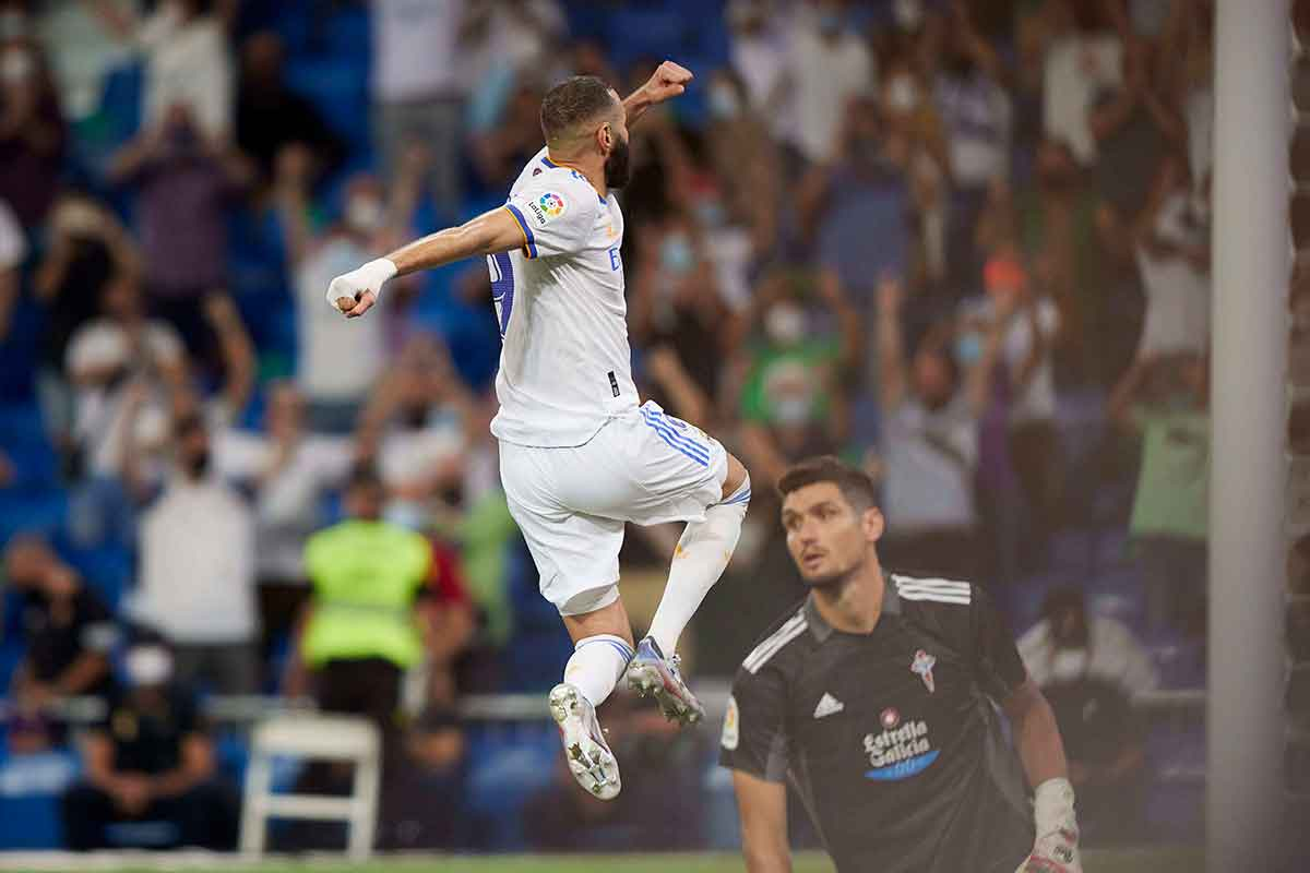Benzema gol Celta