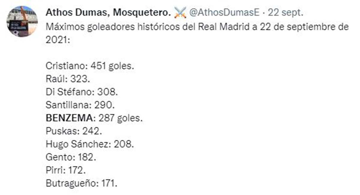 Goles Benzema