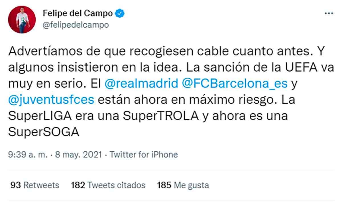 Tuit Felipe del Campo