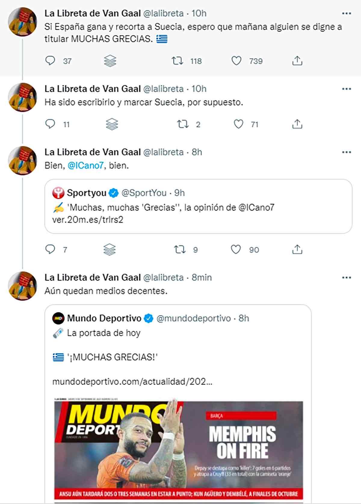 Tuit La Libreta de Van Gaal