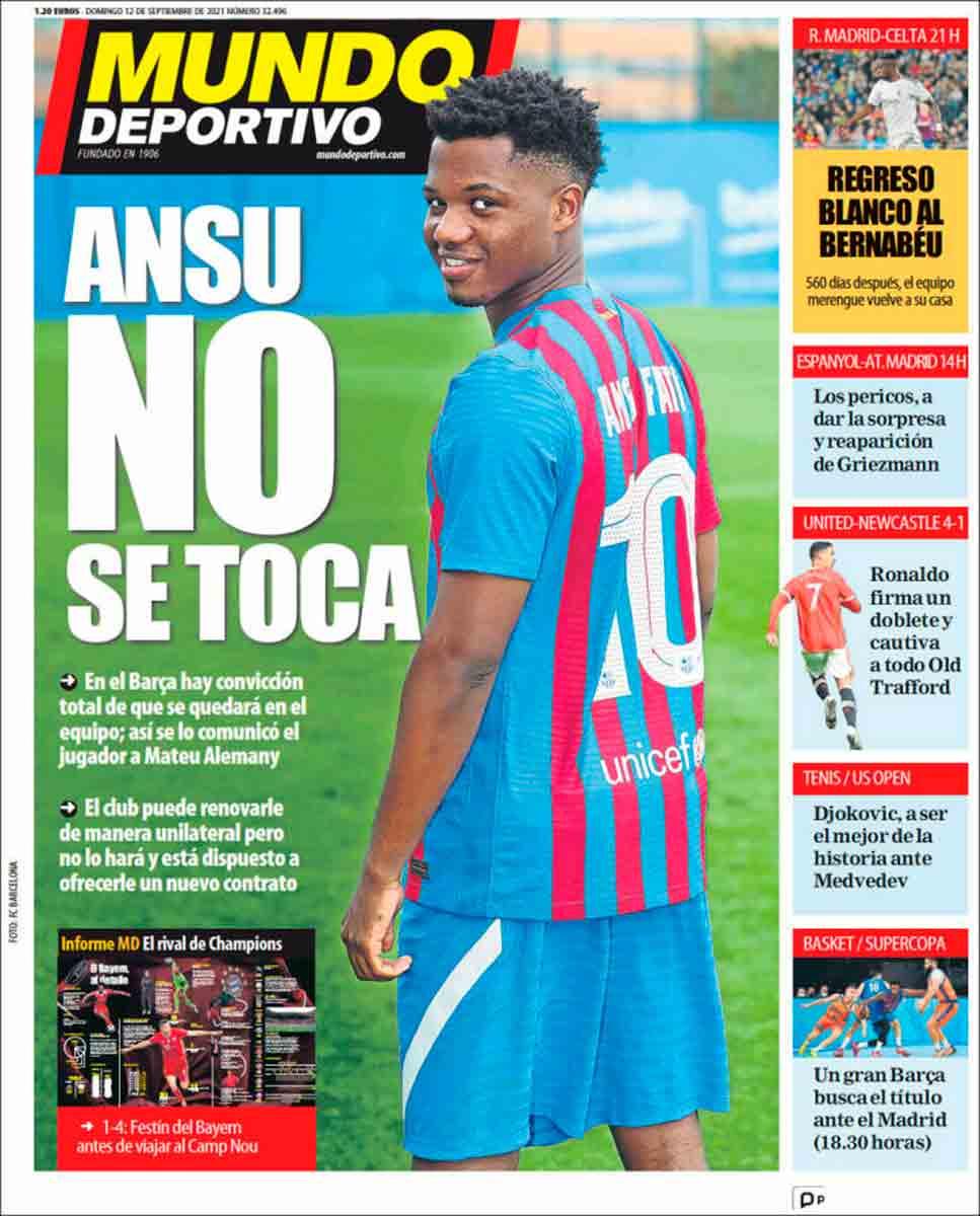 Portada Mundo Deportivo 12-09-21
