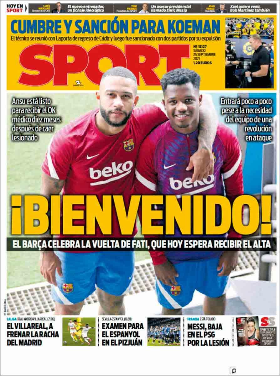 Portada Sport 25-09-21