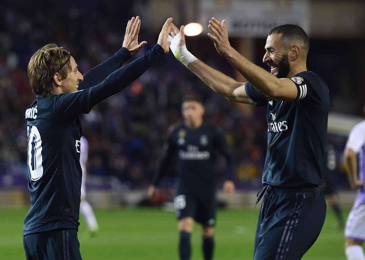 Modric y Benzema