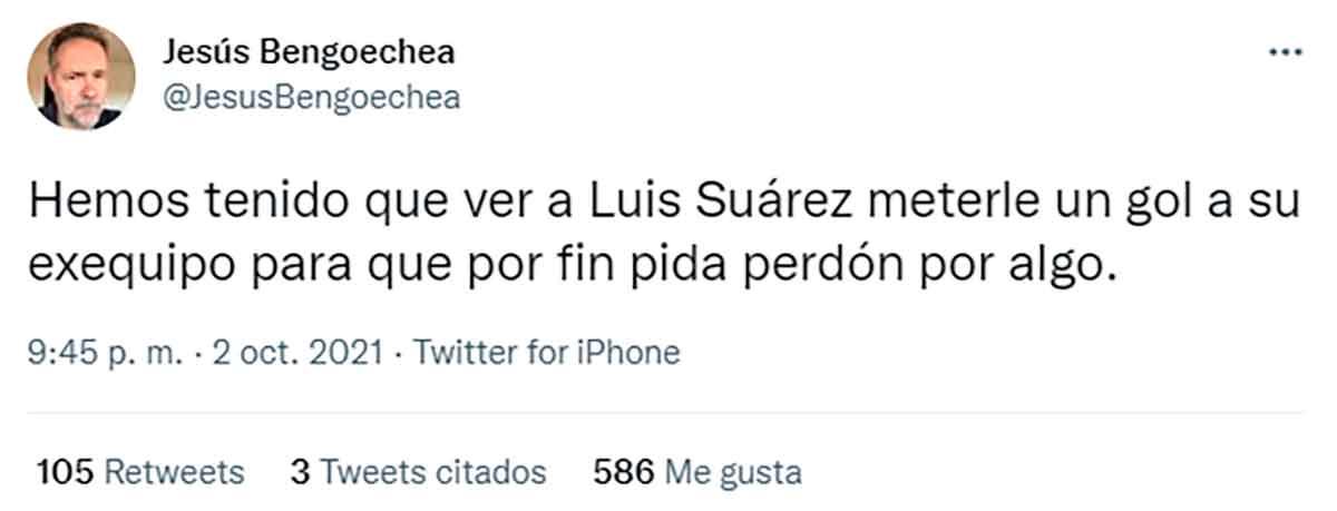 Tuit Jesús Luis Suárez