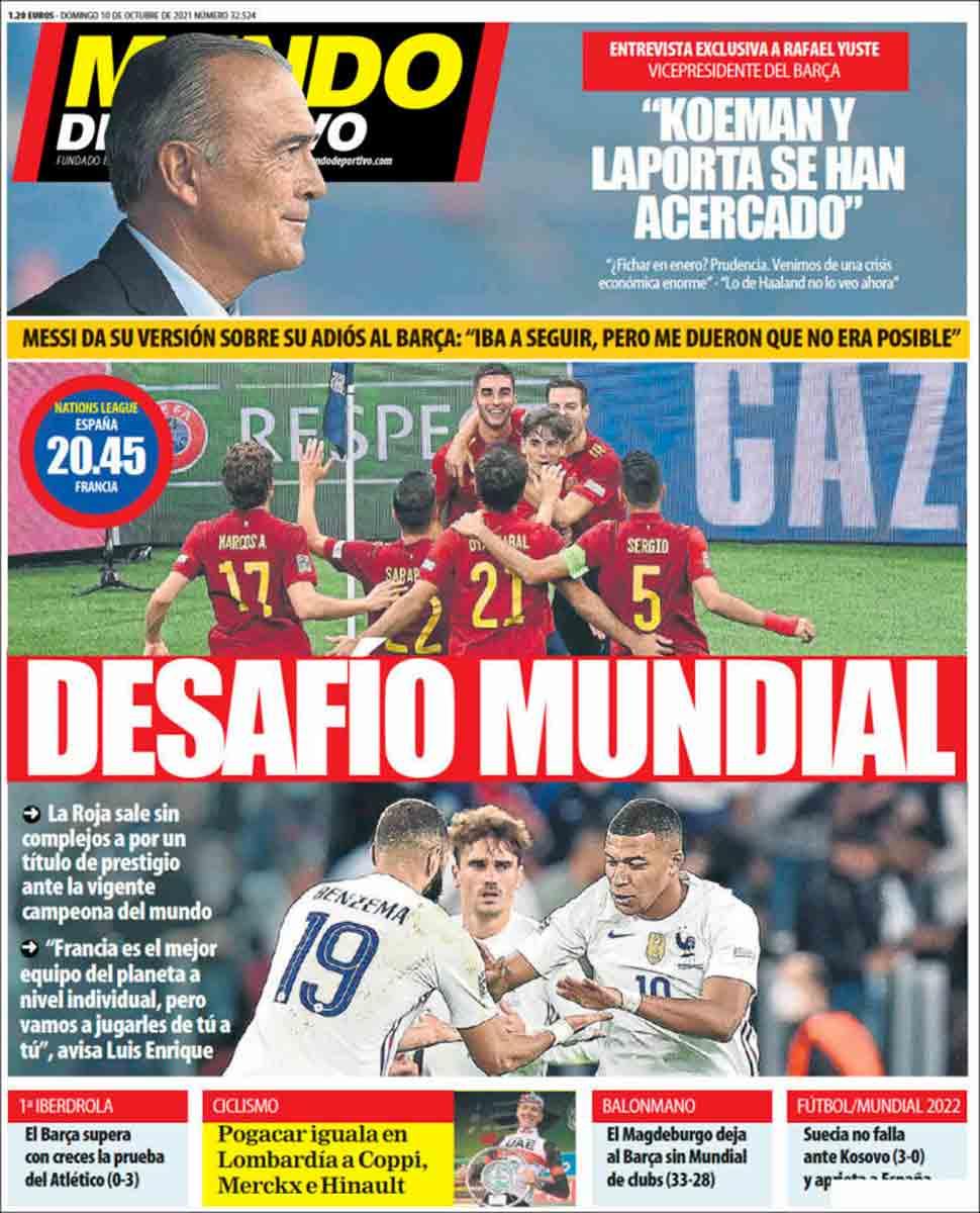 Portada Mundo Deportivo 10-10-21