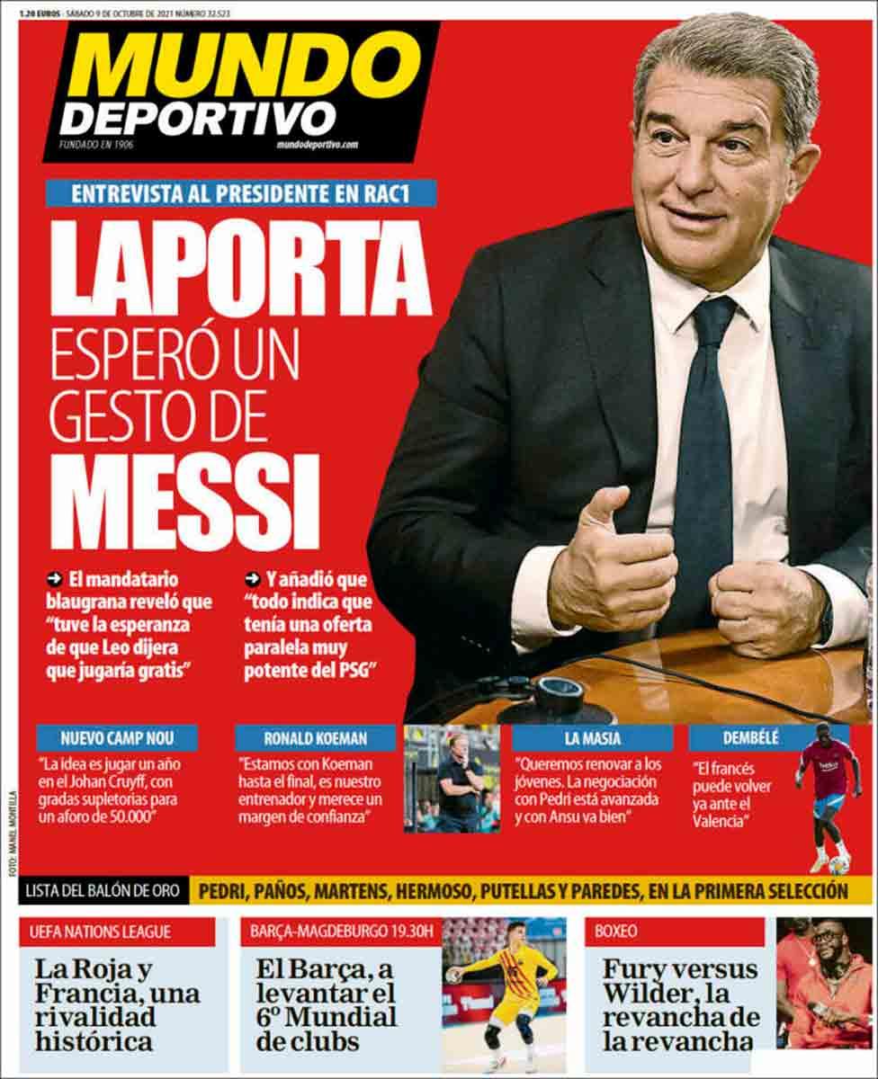 Portada Mundo Deportivo 09-10-21