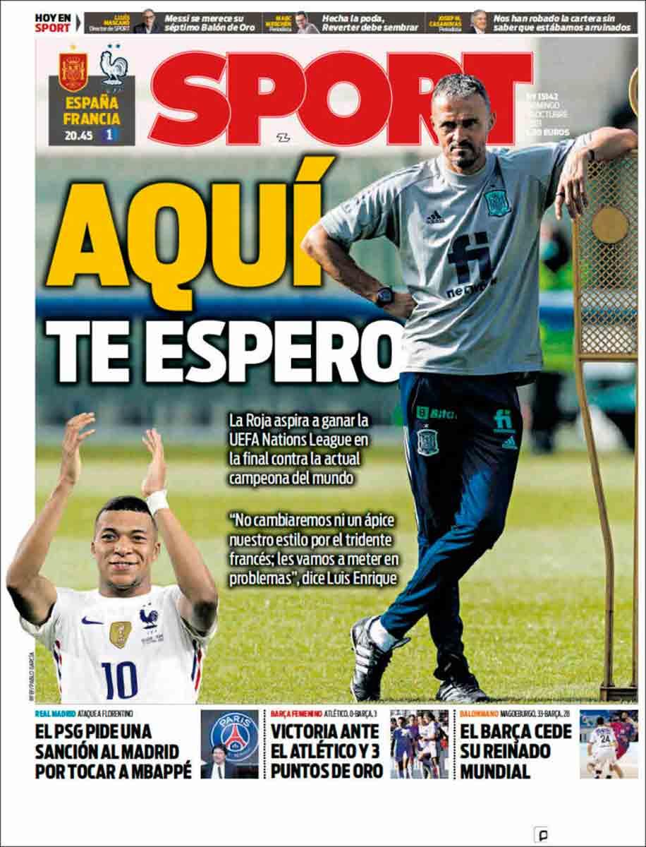 Portada Sport 10-10-21